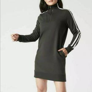 Athleta Circa Crosstown Track Sweatshirt Dress